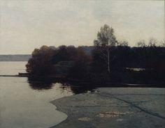 Izotov Mikhail(Russian, b.1956) Ранняя весна Early Spring  1992 oil on canvas