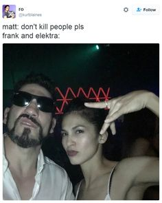 Daredevil season 2  - pretty much most of Matt's scenes with Elektra and The Punisher