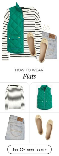 """""""sometimes you just gotta let it go"""" by serenag123 on Polyvore featuring Abercrombie & Fitch, J.Crew, Kendra Scott and Tory Burch"""