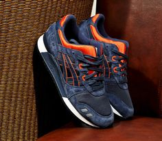 Asics Gel Lyte III-Navy-Orange (Spring 2013)