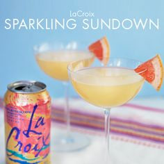 LaCroix Sparkling Sundown - Healthy Cocktail Recipe! Ingredients • 1 ½ oz. vodka • 1 tbsp. lime juice • 6 oz. • Pamplemousse LaCroix Sparkling Water • 1 ½ oz. grapefruit juice