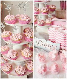 Ballerina Cupcake Toppers | Ballerina Birthday Party - ideas for decor, entertainment, food, and games by KristenDuke.com