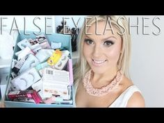 All About False Eyelashes! ♡ My Favorites & How To Apply Falsies - Application - YouTube