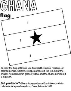 Ghana Coloring Page World Thinking Day Flag Coloring Pages Ghana