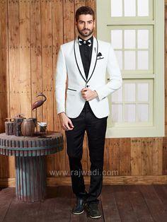 Emboss Fabric Party Wear Suit  #rajwadi #menswear #mensfashion #suit #FeelRoyal #Menssuit #stylish #dapper #designer