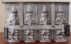 Antique German Tin Witch Broom Metal Chocolate Candy Mold Germany Halloween   eBay