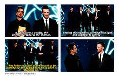 The Avengers cast @ the Oscars.