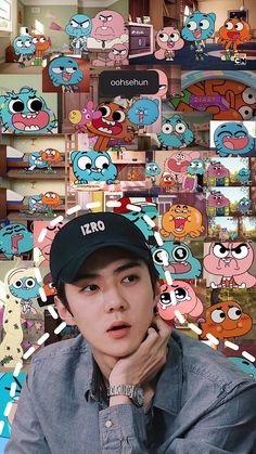 So cute. We Bare Bears Wallpapers, Cute Wallpapers, Ff Exo, Aesthetic Iphone Wallpaper, Aesthetic Wallpapers, Kyungsoo, Chanyeol, Sehun Cute, Exo Album