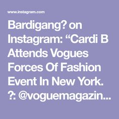 """Bardigang💋 on Instagram: """"Cardi B Attends Vogues Forces Of Fashion Event In New York. 🎥: @voguemagazine"""" Custom Made Shoes, How To Make Shoes, Cardi B, Vogue, New York, Instagram, Fashion, New York City, Moda"""