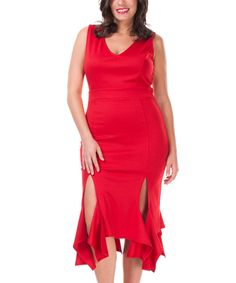 Love this Symphony Red Handkerchief Dress - Plus by Symphony on #zulily! #zulilyfinds