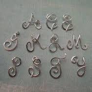 Risultati immagini per wire alphabet letters