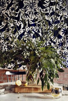 This beautiful Otomi wall hanging adds dimension and charm to a dining room.