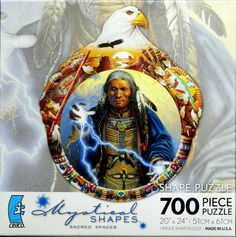 The Conductor Native American Indian Frizzell Shape Jigsaw Puzzle 700 pc NIB #11Main