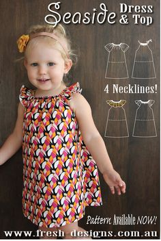 PATTERN Seaside Dress & Top PDF Sewing Pattern Instant