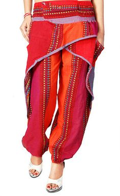HAREM PANT BAGGY GENIE TROUSER YOGA INDIA BOHO ALADDIN PATTERNED FREE SIZE NEW!! | eBay