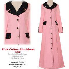 Fashion Islamic Formal Career ButtonUp Shirt Dress by MissMode21
