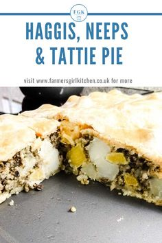 Haggis Neeps and Tattie Pie combines all the flavours of a traditional Scottish Haggis dinner in a budget -tretching and totally delicious pie Scottish Recipes, Turkish Recipes, Romanian Recipes, Kitchen Recipes, Pie Recipes, Sweet Recipes, Burns Night Recipes, Savoury Pastry Recipe, Scotland Food