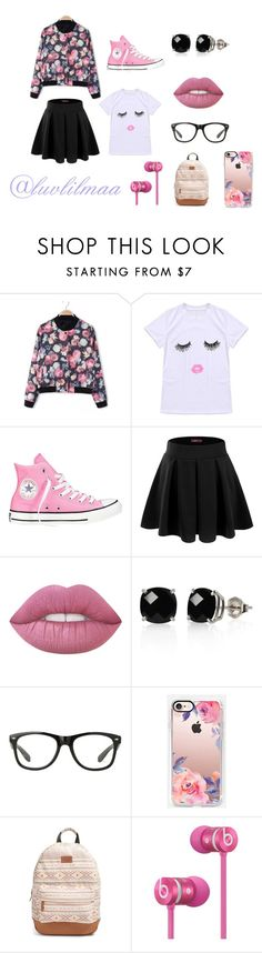 """""""Floral Decor"""" by luvlilmaa on Polyvore featuring Converse, Doublju, Lime Crime, Belk & Co., Casetify, Rip Curl, Beats by Dr. Dre and plus size clothing"""