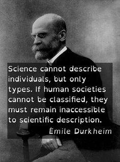 Emile Durkheim quote