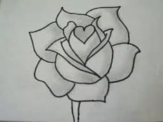 17 trendy Ideas for drawing rose tutorial flower Cool Art Drawings, Pencil Art Drawings, Doodle Drawings, Easy Drawings, Cool Simple Drawings, Easy Flower Drawings, Charcoal Drawings, Flower Sketch Pencil, Flower Sketches