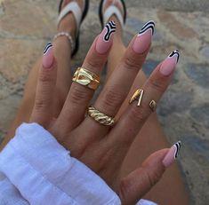 Nail Design Stiletto, Nail Design Glitter, Stiletto Nails, Coffin Nails, Summer Acrylic Nails, Best Acrylic Nails, Cute Summer Nails, Acylic Nails, Fire Nails