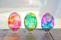 How to Make Stained Glass Easter Eggs - I want to try this idea on a plain glass bowl!
