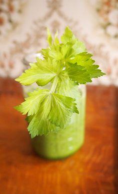 'Pittige' groene smoothie. De groene meisjes