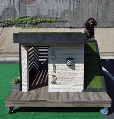 Top 60 Best Dog House Ideas - Barkitecture Designs Discover the best wood work tool Modern Dog Houses, Cool Dog Houses, Small Dog House, Dog Beds For Small Dogs, Best Dog House, Luxury Dog House, Outside Dogs, Outside Dog Houses, Dog House Plans