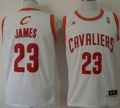 Revolution 30 Cleveland Cavaliers No.23 LeBron James White Home Men s  Basketball Jersey Retro Nba 12de844aa