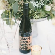 Brides.com: 50 Ways to Save $500. 48. Save Big with BYOB Pick a venue that is BYOB. You can purchase your own wine, remove all of the existing labels, and put a fun label on each bottle. Not only is it cheaper, but it's way more personal.