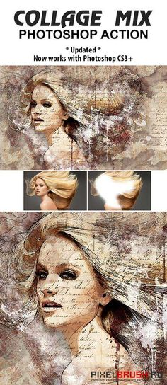 GraphicRiver Collage Mix Photoshop Action