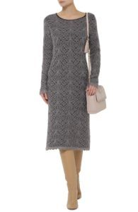 Нарядное платье - Платье серое кружевное Tak.Ori