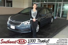 https://flic.kr/p/EJ5G3n | Congratulations Lisa on your #Kia #Forte from Mike Stanton at Southwest Kia Mesquite! | deliverymaxx.com/DealerReviews.aspx?DealerCode=VNDX