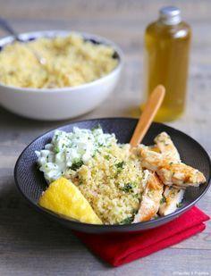Blancs de poulet, boulgour, sauce concombre »