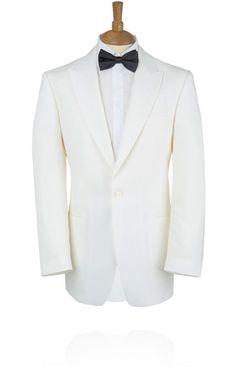 MENS EX HIRE IVORY WHITE SINGLE BREASTED WEDDING TUXEDO PROM BLAZER SUIT JACKET