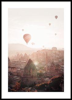 Air Balloons in Cappadocia Poster