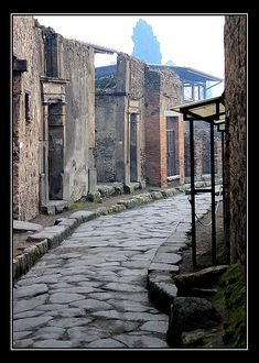 A Narrow Street in Pompeii, Naples, Italy Copyright: Terez Anon Naples ancient city Unesco Word Heritage List Ancient Pompeii, Pompeii And Herculaneum, Ancient Ruins, Ancient History, Pompeii Ruins, Places Around The World, The Places Youll Go, Places To Go, Around The Worlds