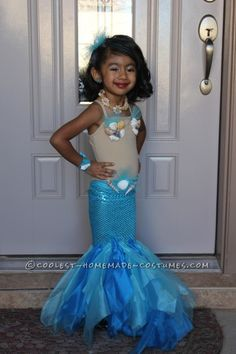 Kids mermaid costume diy kids halloween costume halloween with pretty little mermaid costume for a toddler solutioingenieria Image collections