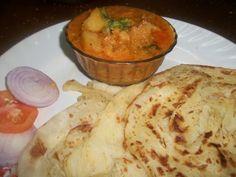Flaky Paratha / Parota / Easy Malabar Parota