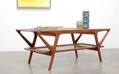 1950s Danish Modern Teak Coffee Table Vintage Mid Century Kagan Pearsall era #DanishModern