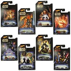 Hot Wheels Star Wars Diecast Cars Complete Set of Complete set of 8 cars from the series. Every car from the picture is supplied. Hot Wheels, Star Wars Vehicles, Star Wars Toys, Star Wars Collection, Designer Toys, Age 3, Old And New, Kids Playing, Diecast