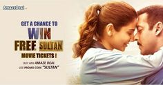 Are we excited to see this super amazing couple on big screens? Get ready to see 'Bhaijaan's' next blockbuster.  http://bit.ly/AD-Sultan  #AmazeDeal #StayAmazed #Sultan #Free #Movie #Tickets