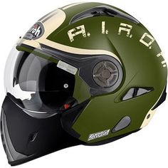 Airoh J106 Helmet -- Airoh have updated their J106 modular helmet with a range of new graphic designs, including the new Green Matt model shown above. The J106 is a thermoplastic helmet with P and J certification both in the jet, open-face and full-face configuration. Other features include an internal integrated retractable sun screen visor, rider climate control with external vents, and a removable and washable inner lining.
