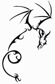 Simple dragon Tattoos Designs Idea
