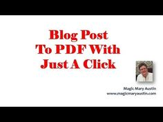How To Change A Blog Post Into A PDF - PDQ