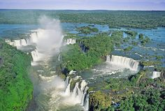 Iguazu Falls, located between Misiones, Argentina and Paraná, Brazil