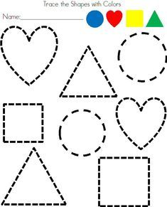 Preschool Shapes Tracing Worksheet With Images Shapes