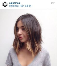 straight hair textured lob - Google Search