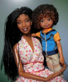 Brandy and Julian..don't know who Julian is but the baby hair is killing me