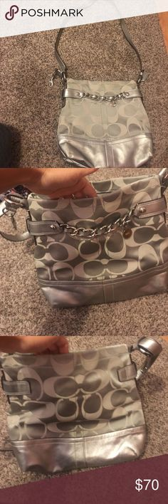Grey Coach Purse/satchel!! Adjustable Coach Purse Coach Bags Crossbody Bags